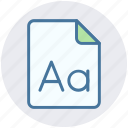 double a, format, language, letter, page, paper, point icon