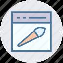 brush, internet, layout, paint brush, seo, web design, webpage
