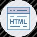 code, development code, html, html code, page, web, web development icon