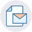 document, envelope, file, letter, mail, message, page