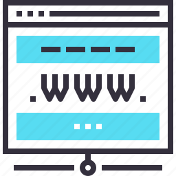 domain, hosting, internet, network, web, website, www icon