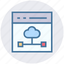 blog, cloud, connection, design, web, webpage, website icon