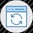 blog, loading arrows, refresh, synchronization, web, webpage, website icon