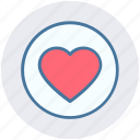 article, circle, design, favorite, heart, like, love icon