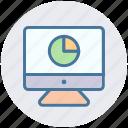 chart, development, diagram, display, graph, lcd, pie chart icon