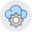 cloud, cloud computing, cloud setting, cogwheel, gear, setting, setup