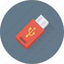 flash drive, pendrive, storage, usb, usb stick icon