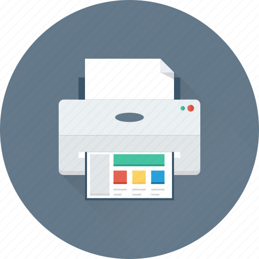 electronics, facsimile, fax machine, office supplies, printer icon