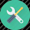 maintenance, repair, screwdriver, spanner, tools