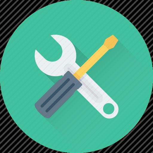 maintenance, repair, screwdriver, spanner, tools icon