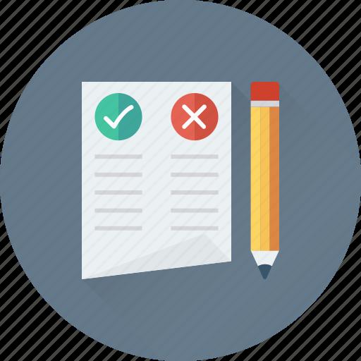 document, false, faq, questionnaire, true icon