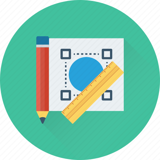 designing, drafting, drawing, pencil, scale icon