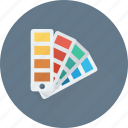 colors, colors chart, paint swatch, palette, pantone icon