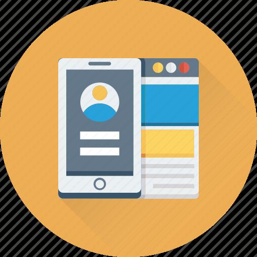 login, mobile, mobile account, mobile login, user account icon