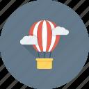 parachute balloon, air balloon, clouds, discover, travel