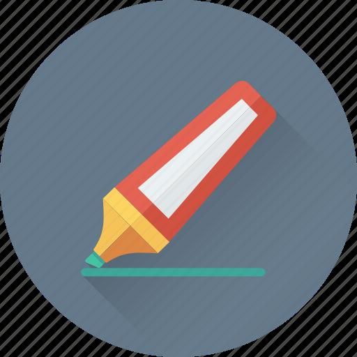 felt pen, highlighter, highlighter pen, marker, stationery icon