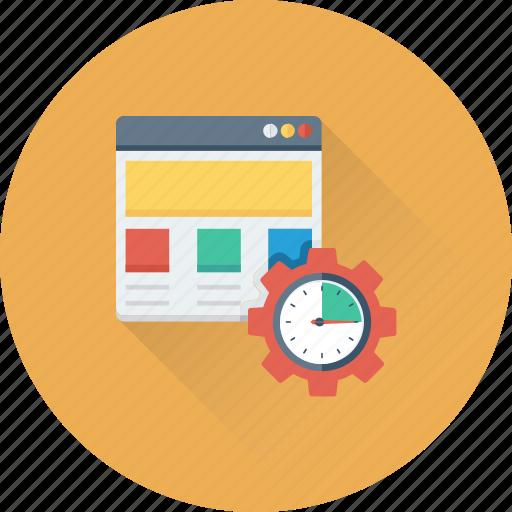 cog, development, optimization, web development, web setting icon