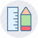design, drafting, engineering, graphic, measure, pencil, ruler icon