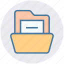 computer folder, document, document folder, file, file folder, folder, open icon