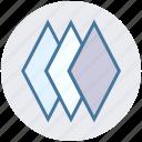 arrange, design, layers, pages, plies, squares, stack icon