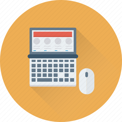 designing, laptop, layout, mouse, template icon