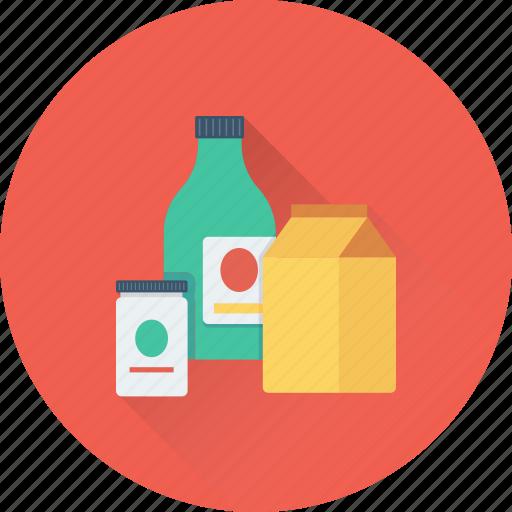 bottle, grocery, jar, juice carton, milk pack icon