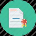 achievement, certificate, certification, degree, diploma