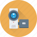 camcorder, camera, handycam, recording, video camera icon