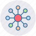 communication, connection, graph, interaction, network, social, structure icon