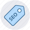 badge, category, development, discount, label, seo, tag icon