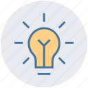 bulb, creative, idea, lamp, light, light bulb icon