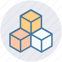 boxes, case, delivery, gift, package, shipping icon