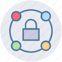 connection, lock, locked, network, private, security icon