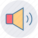 audio, music, sound, speaker, voice, volume, volume on icon