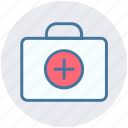 add, bag, brief case, business, hand bag, plus, suitcase icon