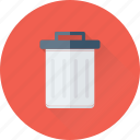 bin, dustbin, garbage, recycle bin, trash icon