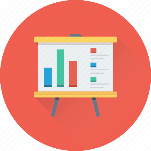 Analytics, graph, line graph, presentation, projection icon - Download on Iconfinder