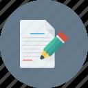 article, blog, content, document, pencil