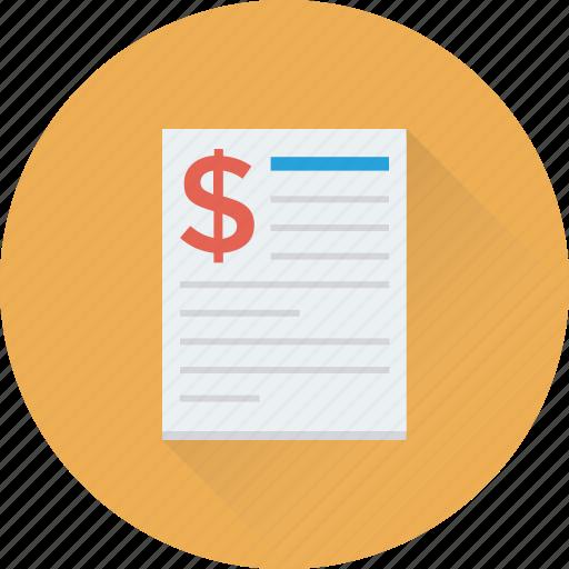 Bill, cheque, payment, receipt, voucher icon - Download on Iconfinder