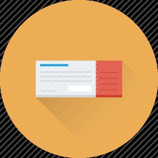 Cheque, cheque book, invoice, receipt, voucher icon - Download on Iconfinder