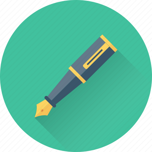 Fountain pen, ink pen, pen, signature, writing icon - Download on Iconfinder