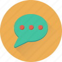 chat bubble, chat messenger, chatting, sms, talking icon
