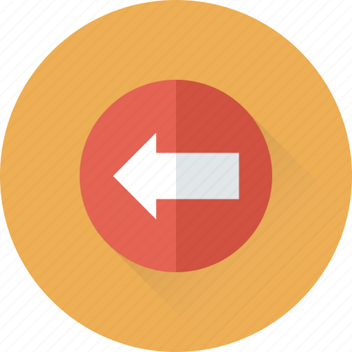 arrow, back, directional, left, navigational icon