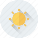 bright day, brightness, morning, sun, sunny day icon