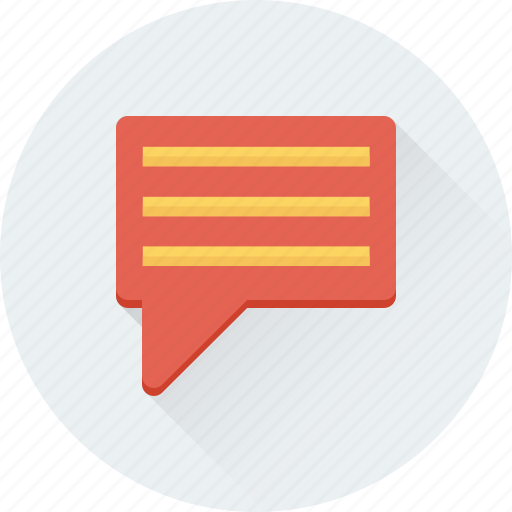 Chat bubble, chat messenger, chatting, sms, talking icon - Download on Iconfinder