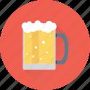 beer mug, beer stein, beer tankard, chilled beer, pint glass