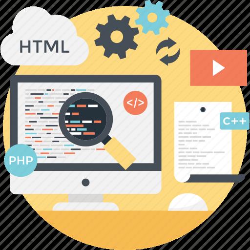 coding, program coding, programming, source code, web development icon