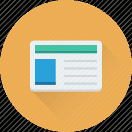 article, blog, media, news, newsletter, newspaper icon