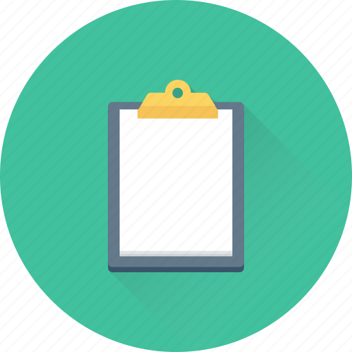clipboard, document, list, notes, sheet icon