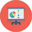 analytics, pie chart, presentation, statistics, training icon